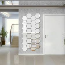 24xsmall mirror tiles wall stickers