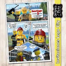 Invitacion De Lego City Invitacion De Lego Lego Party Lego