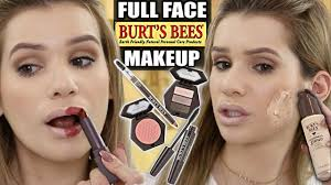 full face trying burt s bees makeup is