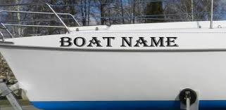Custom Boat Name Sticker Vessel Name Decals Boat Lettering Etsy