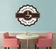 Cik1101 Full Color Wall Decal Sweets Coffee Tea Cakes Showcase Window Stickersforlife