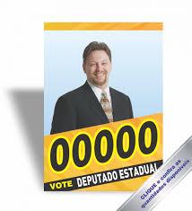 Cartaz Político - Tamanho 31x44 cm - 4x0 cores - Couche Brilho ...