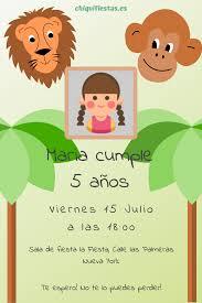 Invitacion Cumpleanos Selva Invitaciones De Cumpleanos