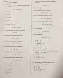 solved solving quadratic equations 9