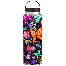 Skin Decal For Hydro Flask 40 Oz Wide Mouth Floral Butterflies Itsaskin Com