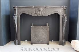 beautiful black antique fireplace from