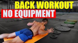 bodyweight back workout no equipment