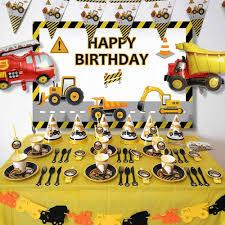 Tractor De Construccion Tema Excavadora Globos Inflables Camion Vehiculo Carteles Para Baby Shower Cumpleanos Para Ninos Suministros De Fiesta Aliexpress