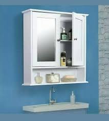 door mirrored bathroom cabinet