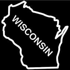 Amazon Com Bd Usa Wisconsin State Outline Decal Sticker White Decal Sticker Vinyl Car Home Truck Window Laptop Automotive