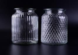 empty bright clear glass jars