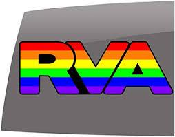 Amazon Com Rva Gay Pride Rainbow Window Decals 5 Year Outdoor Vinyl Sticker Automotive