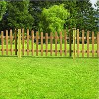 Dip Treated Crescent Palisade Picket Fence 6 X 3ft Gables And Gardens