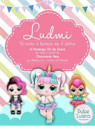 10 Invitaciones Tarjetas Infantiles Original Lol Surprise 172