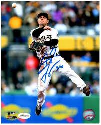 Adam Frazier Signed In Air Throwing Baseball 8x10 Photo — TSEShop