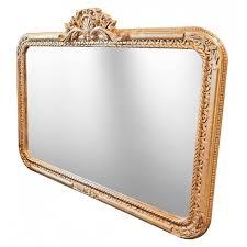 large rectangular baroque mirror louis