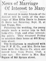 James Oliver Botts and Effie Mary Davis Marry - Newspapers.com