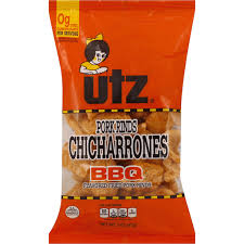 utz pork rinds fried bbq flavored