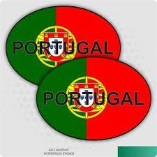 2 X Portugal Portuguese Oval Flag Car Stickers Van Bike Hgv Vinyl Decal Ebay