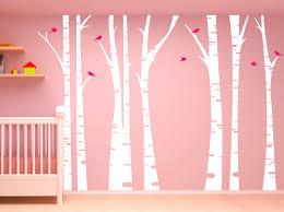 Birch Tree Forest Set Vinyl Wall Decal Birds 1295 Innovativestencils