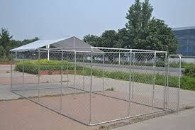 Chickencoopoutlet Backyard Dog Kennel Outdoor Pet Pen Chain Link Fence House Large Cage 20 X10 X6 Amazon Co Uk Garden Outdoors