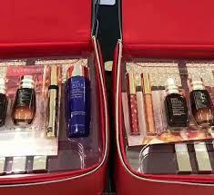 estee lauder makeup set red bag