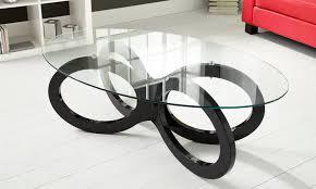 high gloss loop coffee tables groupon