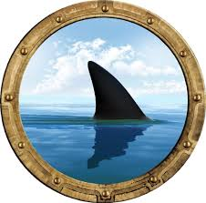 Amazon Com 12 Porthole 3d Window Wall Decal Shark Fin Rustic Port Scape Under The Sea Water Ocean Fish Childrens Wall Art Kids Boys Room Decor Removable Fabric Vinyl Peel And Stick Instant