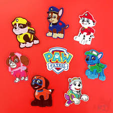 Miếng vá quần áo in họa tiết phim hoạt hình biệt đội chó cứu hộ