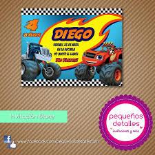 Invitaciones Digitales Blaze Monster Machines 50 00 En Mercado
