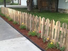 Adventurous Andersons Pallet Picket Fence Wood Pallet Fence Backyard Fences Fence Design