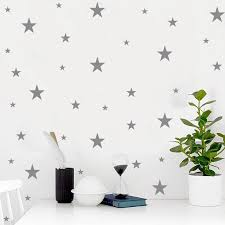 Solid Color Black White Silver Stars Wall Sticker For Home Decoration Pvc Removable Wall Stickers Wall Decals Wall Papers Wall Stickers Aliexpress