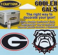 Georgia Bulldogs Die Cut G Uga Bulldog 2 Pack Cooler Cals Decals