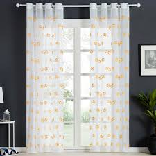 Embroidered Football Sheer Curtains For Living Room Bedroom Children Kids Room Tulle Window Curtains Yarn Drapes Inoava Com