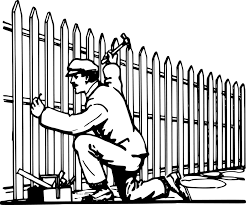 Drawn Fence Garden Clip Art Fence Clipart Black And White Png Download Full Size Clipart 1193236 Pinclipart