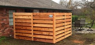 Owasso Fence Company Need Some Privacy For Your Hot Tub Porch Or Pool Consider This Horizontal Shadow Box Privacy Fence Made With 2 Or Better Western Red Cedar Pickets Just Like