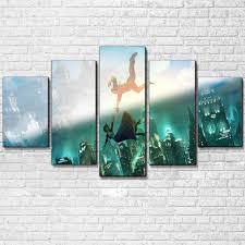 Home Garden Posters Prints Two World Collide Bioshock Infinite 5 Piece Canvas Art Print Picture Wall Decor Magnumcap Com