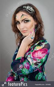 people woman with indian makeup