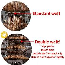 double weft hair extensions 8pcs 18
