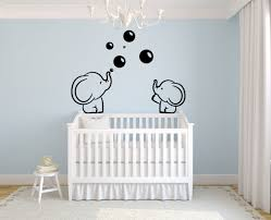 Lhkser Cute Family Elephant Spit Bubbles Wall Decals Nursery Decor Kids Wall For Sale Online Ebay