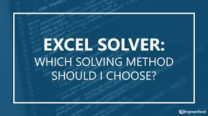 excel solver which solving method