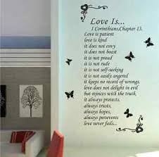 Love Is Patient Love Is Kind Wall Art Wall Sticker Wall Decal Uk Rui237 Ebay
