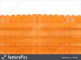 Safety And Security Orange Wooden Fence Stock Image I3297940 At Featurepics