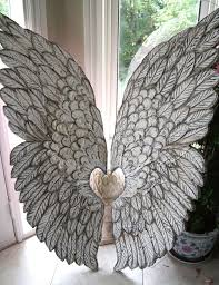 large angel wings hand crafted and