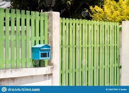 Mailbox In Front Of The House And Gate With Sunlight And Beautiful Natural Background The Letter Box Looks Old And Damage Stock Image Image Of Letterbox Wall 162477621