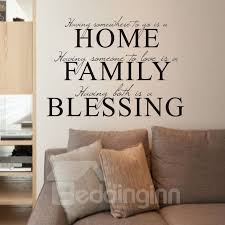 Home Family Blessing Self Adhesive Safe Non Toxic Abstract Wall Stickers Pvc Wall Decals Beddinginn Com