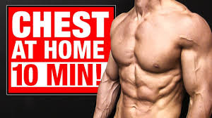 home chest workout 10 minutes follow