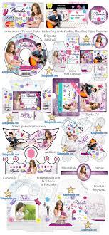 Kit Imprimible Violetta Invitaciones Tarjetas Marcos De Fotos