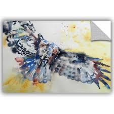 Artwall Grey Owl Wall Decal Wayfair