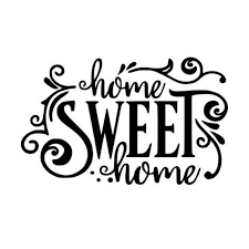 Home Sweet Home Vinyl Decal Home Sweet Home Decor Home Etsy